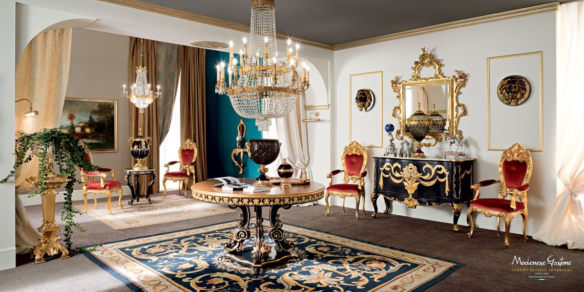 Solid-wood-classic-living-room-with-carved-tea-table-Bella-Vita-collection-Modenese-Gastone